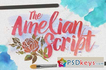 Amelian Script Typeface 109080