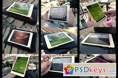 Bundle Photorealistic Tablet MockUp 123643