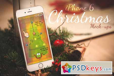 iPhone 6 Christmas Mock-Ups 124477