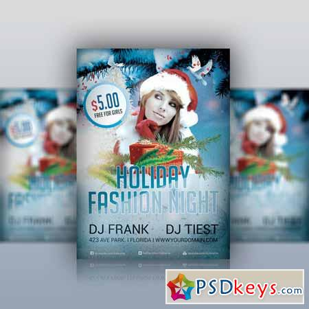 Holiday Fashion - Party Flyer PSD 123691