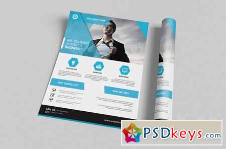 Corporate Flyer Template Free Download Photoshop Vector - Brochure template download