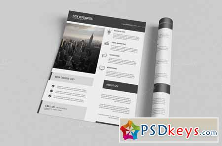 Minimal Corporate Flyer Template 124373