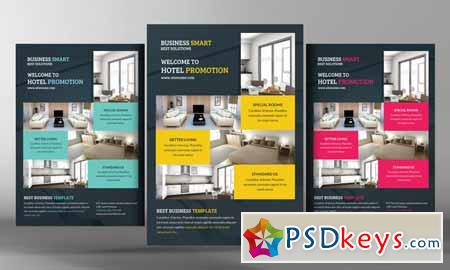 Hotel Promotion Flyer Template Free Download Photoshop - Promotional brochure template
