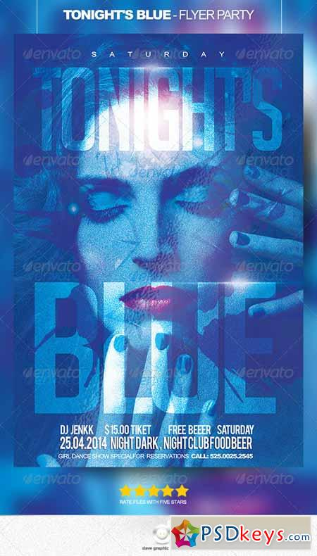 Tonight is Blue - Flyer Party 8566780