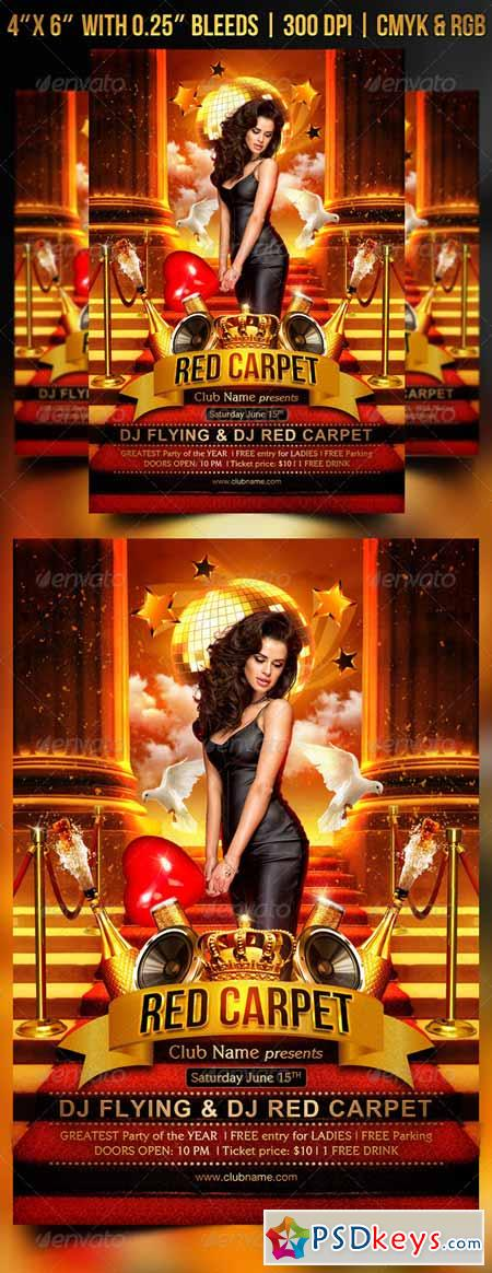 Red Carpet Flyer Template 8569904