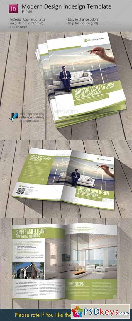 Modern Light Design Indesign Template Brochure Free - Indesign template brochure