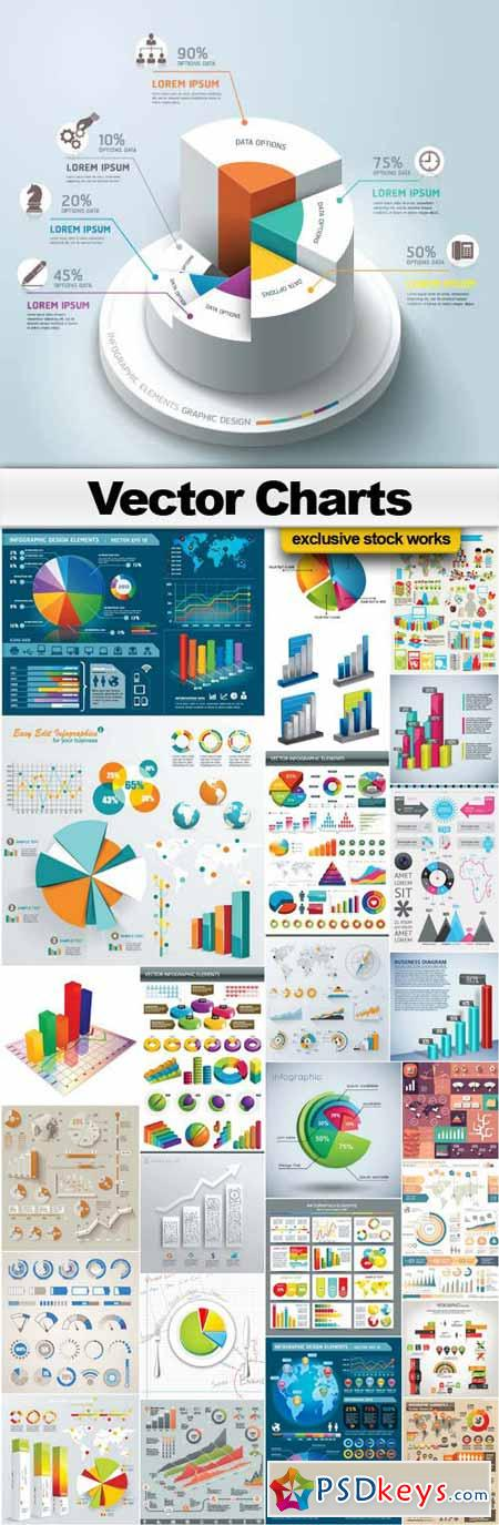 Vector Charts Collection - 26xEPS