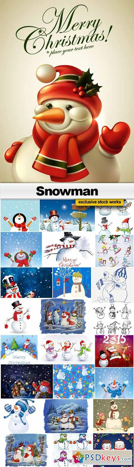 Snowman Vector Collection - 25xEPS