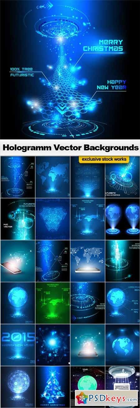 Hologramm Vector Backgrounds - 25xEPS