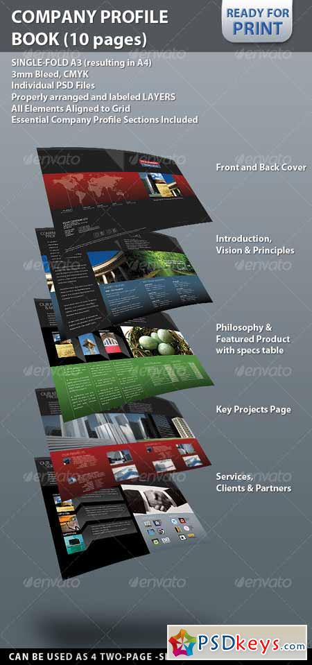 Professional company profile brochure 10 pages 122065 for Company profile brochure template