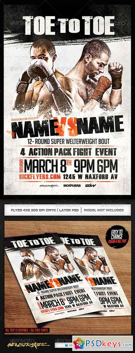Boxing Flyer Template PSD 7001530