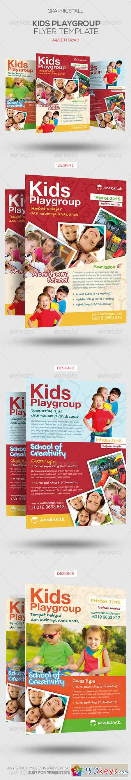 Kids Playgroup Education Flyer 7012988