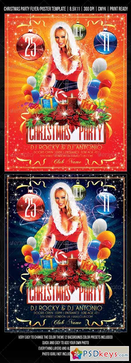christmas party concert flyer poster design 752245 free download photoshop vector stock image. Black Bedroom Furniture Sets. Home Design Ideas