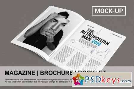 Magazine Brochure Mock-up 127320