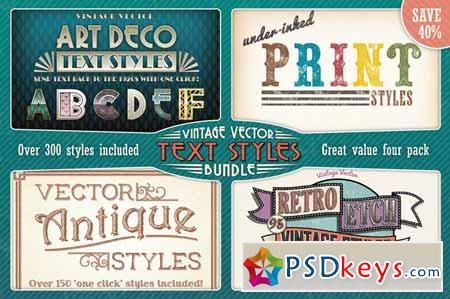 Vintage Vector Text Styles Bundle 123917