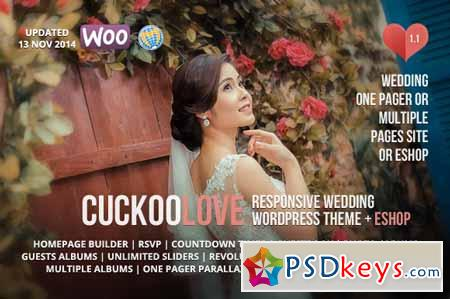 CuckooLove - Wedding WordPress Theme 66386