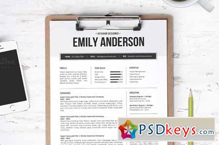 Resume Template The Emily 111912