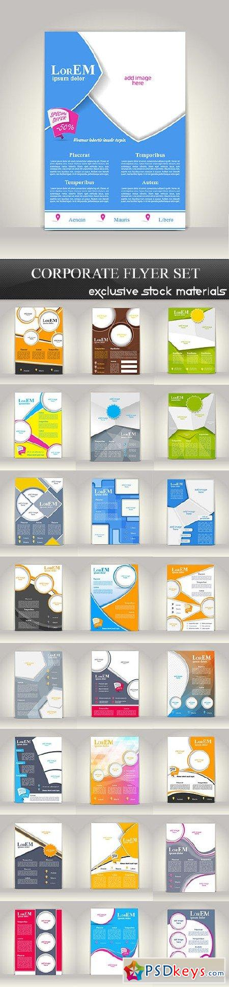 Corporate Flyer Set 25xEPS