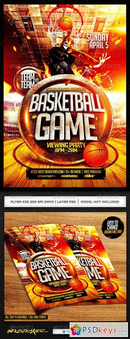Basketball Playoffs Flyer PSD 7351212
