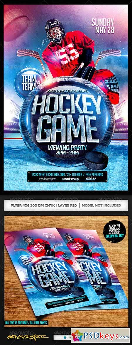Hockey Flyer PSD 7214404