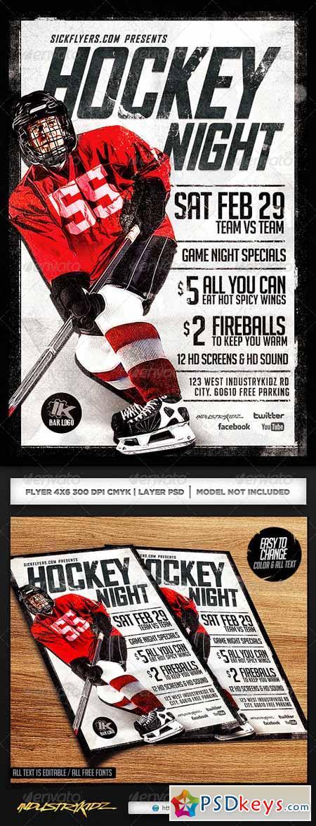 Hockey Game Night Flyer Template 6816623