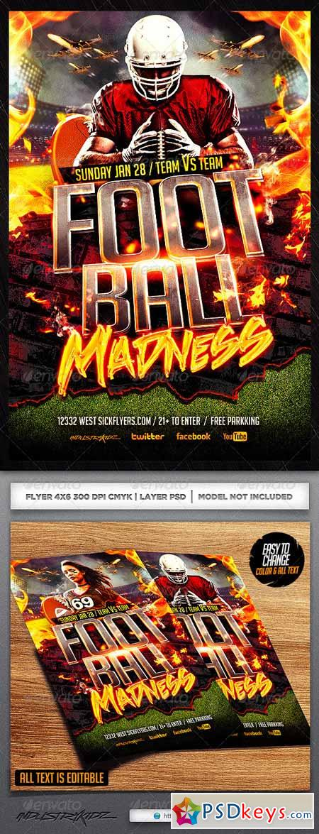 Football Madness Flyer Template 6492568