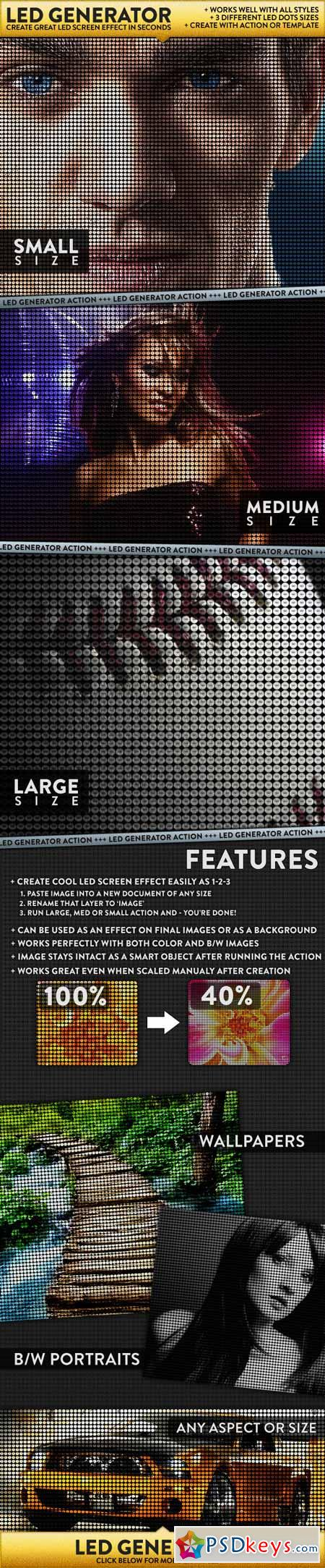 LED Dot Screen Effect Generator 1298583