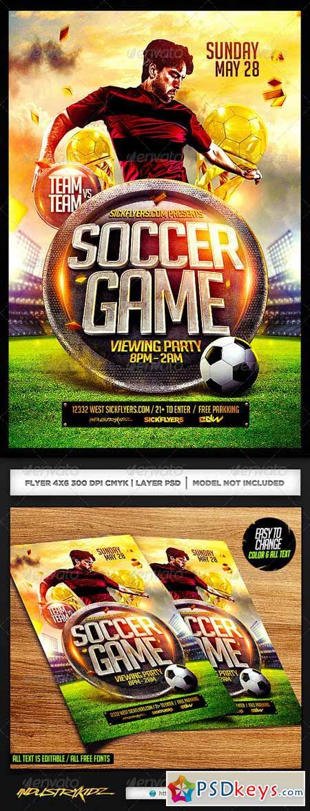 Soccer Flyer Template PSD 7225599