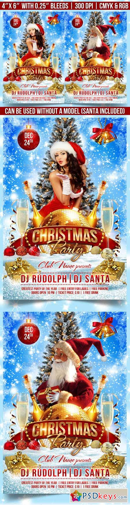 Christmas Party Flyer Template 9298329