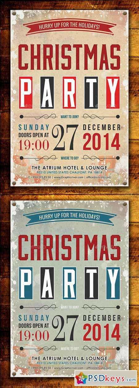 Christmas Party Flyer Template 9279999