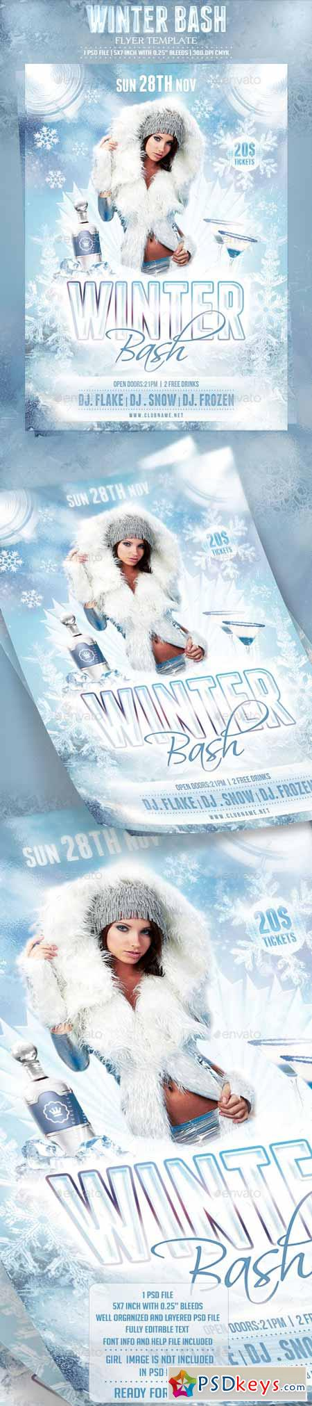 Winter Bash Flyer Template 9264261