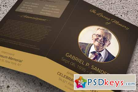 Funeral Program Template   Bi Fold 36997  Free Funeral Program Templates Download