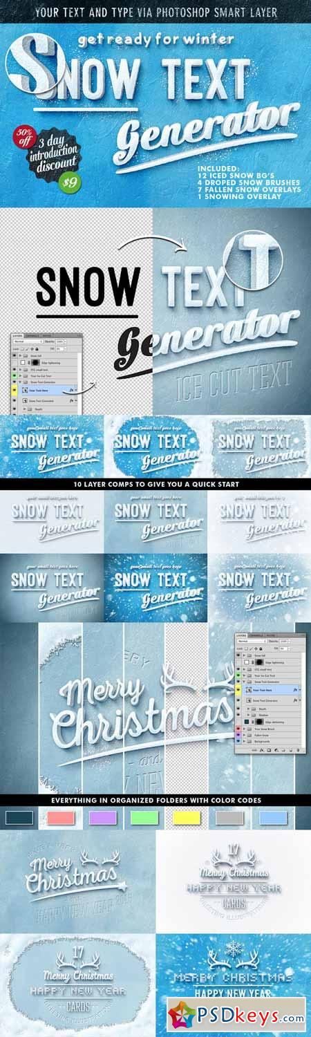 Vector Text Generator : Off snow text generator free download