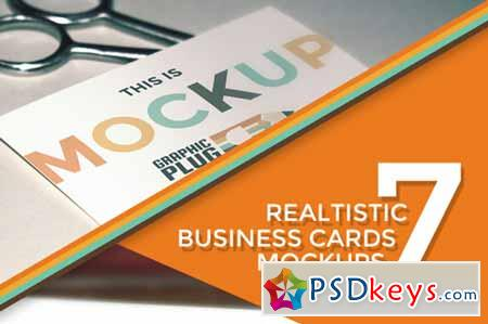 7 Realistic Business Cards Mockups 130074