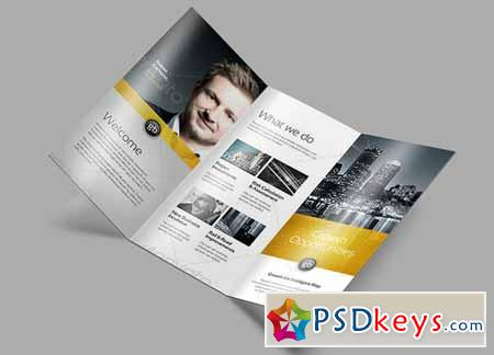 Tri Fold Brochure Mock-Up 2 128466