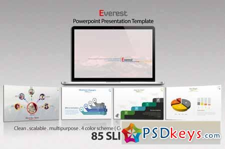 everest powerpoint template 129929 » free download photoshop, Presentation templates
