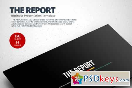 The Report Powerpoint Template 128888