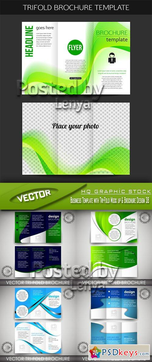 Business Template With Tri Fold Mock Up Brochure Design 38 Free