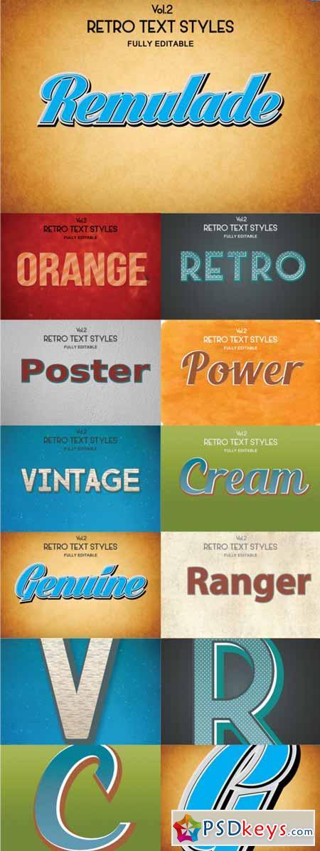 Vintage Retro Text Styles .Ai Vol2 49441