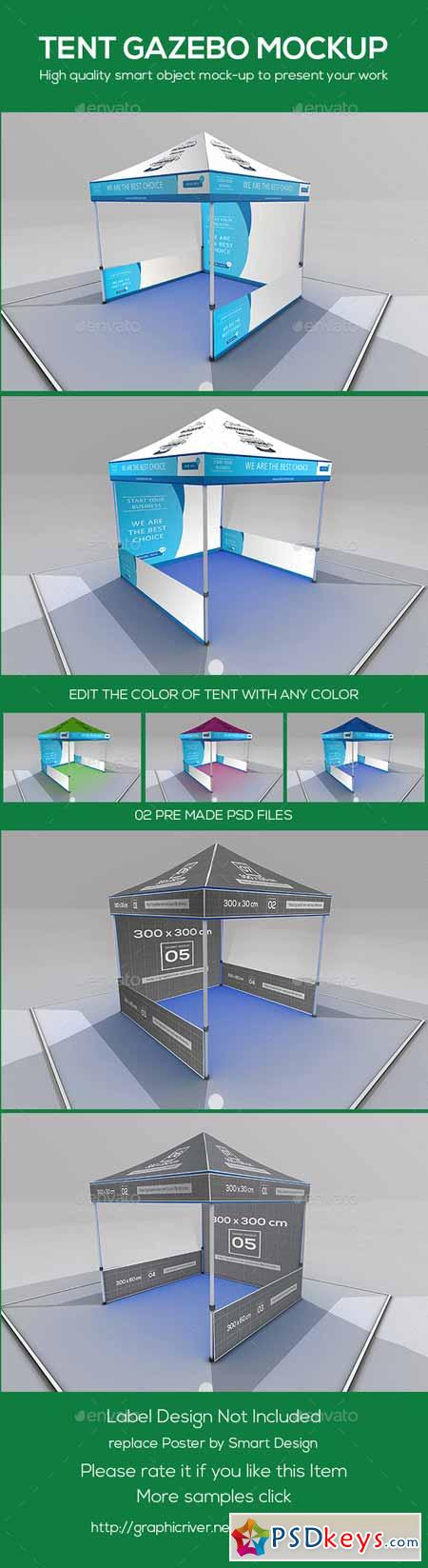 Tent Gazebo Mockup 9680377 » Free Download Photoshop Vector Stock