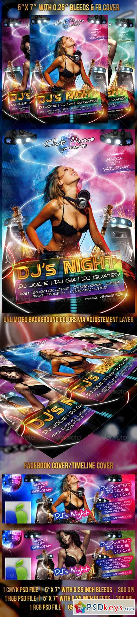 DJ's Night Flyer FB Cover 6897070