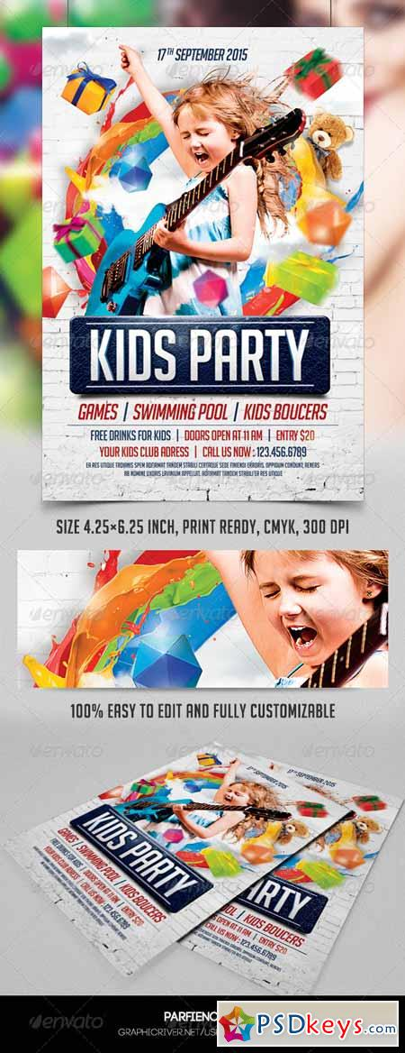 Kids Party Flyer Template 8549102