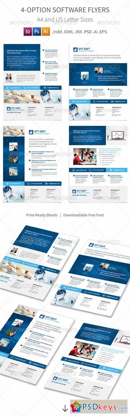 IT and Software Flyers – 4 Options 8569371