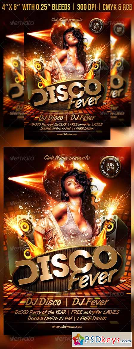 Disco Fever Flyer 7472254