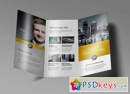 Tri Fold Brochure Mock-Up 5 128470