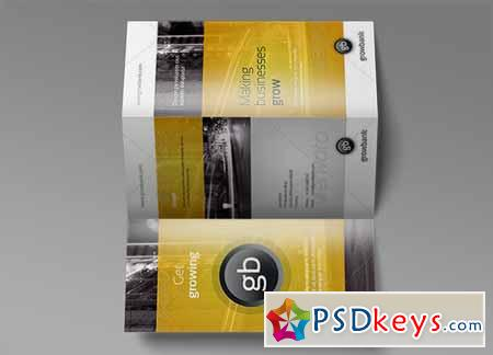 Tri Fold Brochure Mock-Up 6 128473