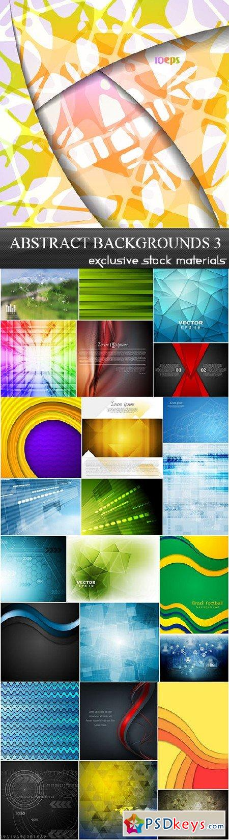 Abstract Backgrounds Vector Set 3 25xEPS