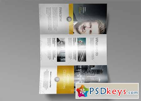 Tri Fold Brochure Mock-Up 7 128477
