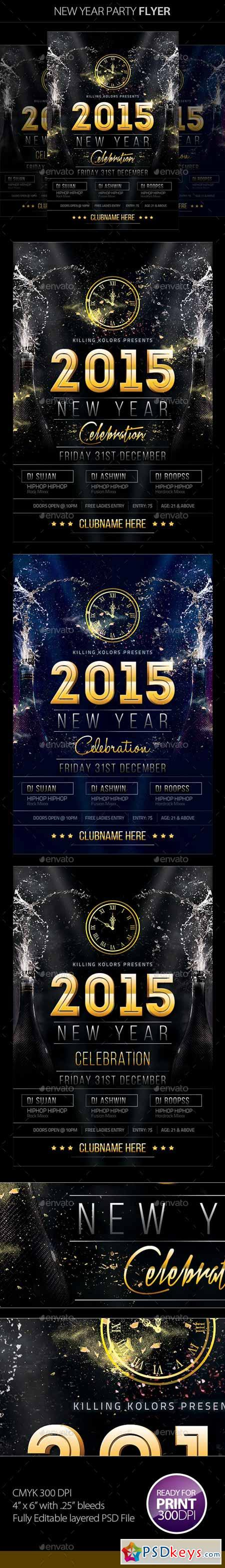 New Year Party Flyer 9503050