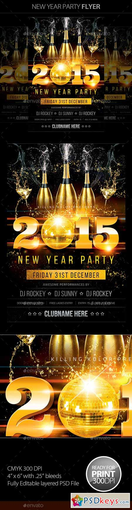 New Year Party Flyer 9522834